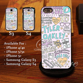 Tyler Oakley Collage Art Design for iPhone 4, iPhone 4s, iPhone 5, Samsung Galaxy S3, Samsung Galaxy S4 Case