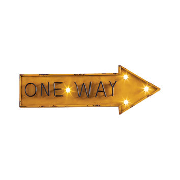 One Way Marquee Sign
