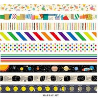 MT Kids Washi Tape - Peta ; Shima ; Ten ; Stripes ; Border ; Dot; Planet; Constellation ; Moon