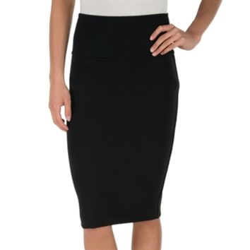 Lily White Juniors Pull On Textured Pencil Skirt at Von Maur