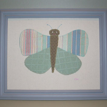 Mint Butterfly Framed Wall Art
