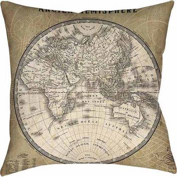Thumbprintz French World Map II Indoor Pillow - Walmart.com