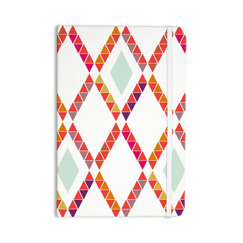 "Pellerina Design ""Aztec Diamonds"" Orange Geometric Everything Notebook"