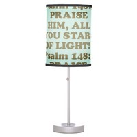 Bible verse from Psalm 148:3. Desk Lamp