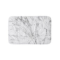 Winter Grass In Snow Bath Mat