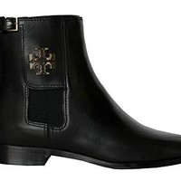 Tory Burch Wyatt Mid Calf Bootie Women's Leather Shoes Boots 50837