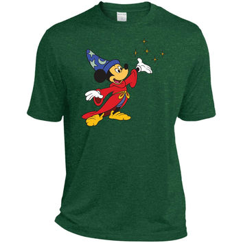 Merry Christmas and Happy New Year Mickey Mouse 2  TST360 Sport-Tek Tall Heather Dri-Fit Moisture-Wicking T-Shirt