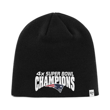 New England Patriots - Four Time Super Bowl Champions Black Beanie
