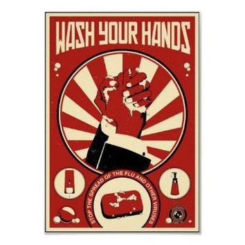 Office Propaganda: Wash your hands Poster from Zazzle.com