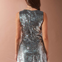 Bardot Plunging Sequin Dress | Urban Outfitters