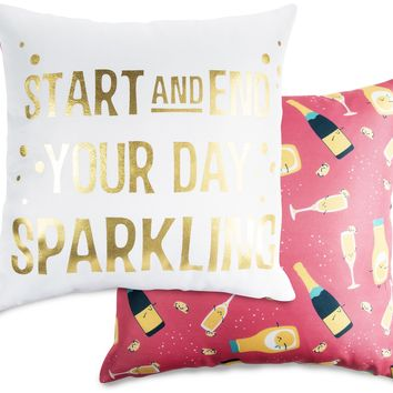 Start and end your day sparkling Throw Pillow
