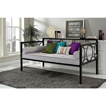 Twin Size Modern Black Metal Daybeds - Use as Bed or Seating