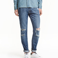 Skinny Low Trashed Jeans - from H&M