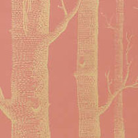Anthropologie - Woods Wallpaper, Coral