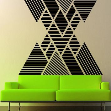 Geometric Pattern Double Vision Mountain Wall Decal. #OS_MB1248