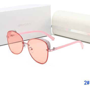 JIMMY CHOO Stylish Ladies Elegant Sun Shades Eyeglasses Glasses Sunglasses 2#