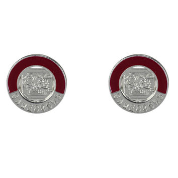 South Carolina Gamecocks Two-Tone Post Earrings