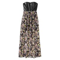 Xhilaration® Junior's Strapless Faux Leather Maxi Dress - Assorted Colors