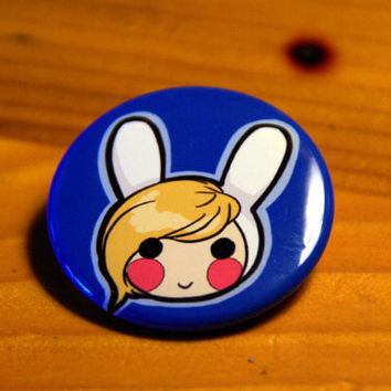 ADVENTURE TIME BUTTONFionna by ButtonMashing on Etsy