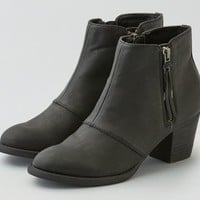 AEO Women's Double Zip Stacked Heel Bootie