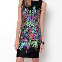 Chetta B Sleeveless Printed Dress - Career And Day Dresses - Modnique.com