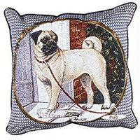 Pug Throw Pillow - One Side Design