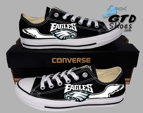 0891378635db Hand Painted Converse Low. Philadelphia from Genuine Touch