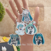 Hatsune Miku acrylic Keychain Action Figure Pendant Car Key Accessories Cute Japanese Anime Game Collection CY002 LTX1