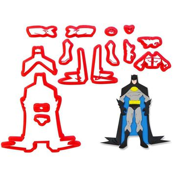 Batman Dark Knight gift Christmas Popular Movie Super Hero Batman Body Cookie Cutter Set Custom Made 3D Printed Fondant Cupcake Mould Cake Decorating Tools AT_71_6