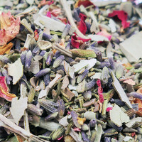 GODDESS SMUDGE MIX Cleanse & Purify Your Magical Space - Wicca Smudging Herbs with Red Abalone Shell