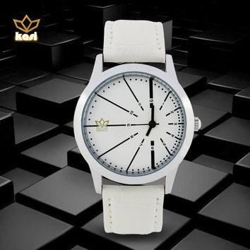 2015 Men's Watches Top Brand Luxury Quartz Watch Fashion Genuine Leather Watches Men Watch ( 5 Color )