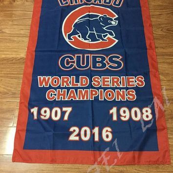 3X5FT 2016 world series champions Chicago Cubs flag with 2 metal Grommets chicago cubs champions