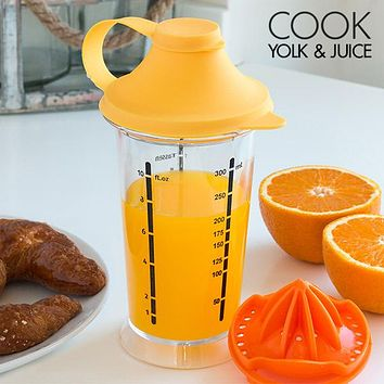 Cook Yolk & Juice Mixing Glass with Juicer
