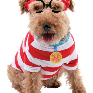 Where's Waldo Woof Dog Kit Med Costume