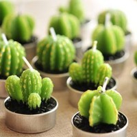 YESSTYLE: Na Na- Set of 6: Cactus Candle (Green - One Size) - Free International Shipping on orders over $150