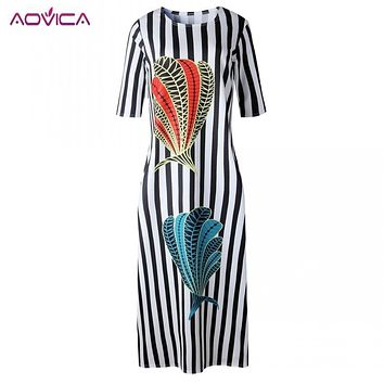 Aovica Hot Sale New Fashion Design Traditional African Clothing Print Dashiki Nice Neck African Dresses for Women Muslim Fashion