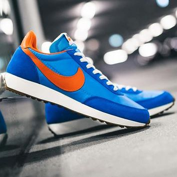Nike Air Tailwind 79 Beterue waffle shoes breathable cloth fashion running shoes Blue orange hook