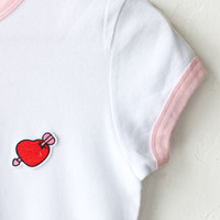 Arrow Heart Ringer Tee