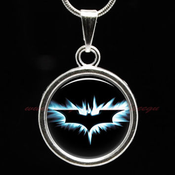 Batman Necklace ,Batman Pendant , kids gift, Batman Party, Batman Logo Symbol,Superhero Party