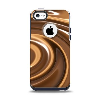 The Chocolate and Carmel Swirl Apple iPhone 5c Otterbox Commuter Case Skin Set