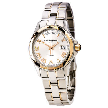 Raymond Weil 2965-SG5-00658 Men's Geneve Classy Automatic Silver Dial Two Tone Steel Watch
