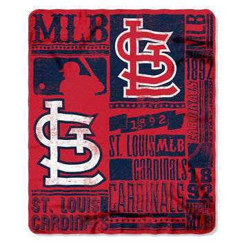 St. Louis Cardinals MLB Light Weight Fleece Blanket (Strength Series) (50inx60in)