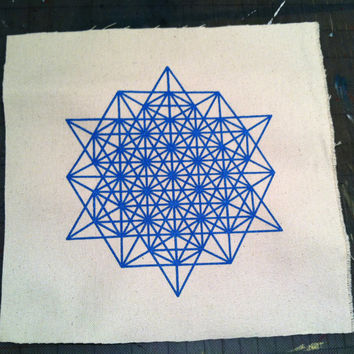 64 Star Tetrahedron Grid Sacred Geometry PATCH