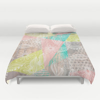 Floral MIX Duvet Cover by Louise Machado
