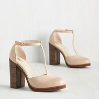 BC Footwear Catch You on the Upside Heel in Beige | Mod Retro Vintage Heels | ModCloth.com
