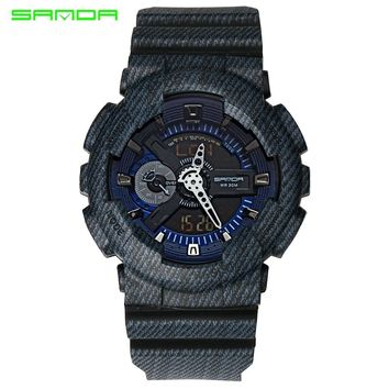 Fashion Watches Men Women Lover Sports Watches Analog Quartz LED Watches Brand Waterproof Digital Watches Montre Homme SANDA