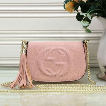 GUCCI Tide Brand Female Models Wild Tassel Single Shoulder Diagonal Mobile Handbag