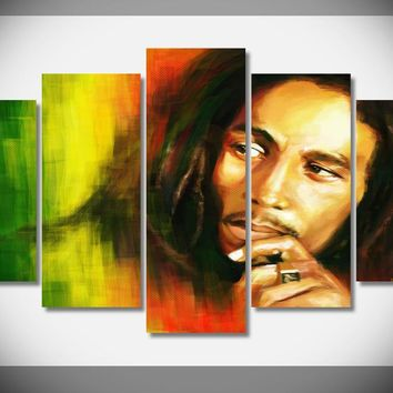 P0233 Bob Marley Reggae Music Poster Framed Gallery wrap art print home wall decor  wall picture Already to hang digital print