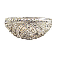 ELK 2 Light Wall Bracket In Sunset Silver And Crystal Accents - 6238/2