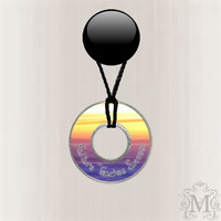 Motivational Resin Coated Washer Necklace
